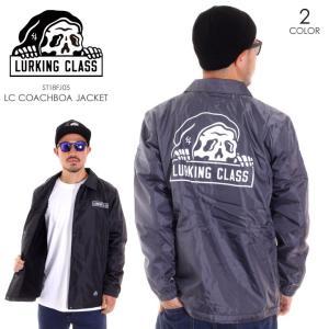 LURKING CLASS ラーキングクラス アウター メンズ ジャケット メンズ LC COACHBOA JACKET ST18FJ05 2018秋冬 グレー/ブラック M/L|3direct