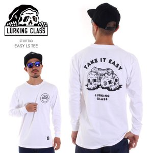 LURKING CLASS ラーキングクラス ロンT メンズ EASY LS TEE  ST18FT03 2018秋冬 ホワイト M/L|3direct