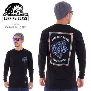 LURKING CLASS ラーキングクラス ロンT メンズ KARMA BL LS TEE ST18FT04 2018秋冬 ブラック M/L|3direct