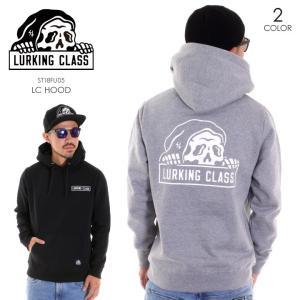 LURKING CLASS ラーキングクラス パーカー メンズ LC HOOD ST18FU05 2018秋冬 グレー/ブラック M/L|3direct