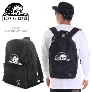 LURKING CLASS リュック メンズ PRINT DAYPACK ST18SA04 2018春夏 ブラック ワンサイズ|3direct