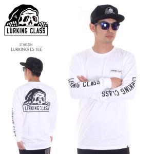 LURKING CLASS ロンT メンズ LURKING L/S TEE ST18ST04 2018春夏 ホワイト S/M/L|3direct