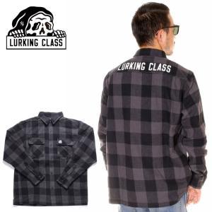 SALE セール LURKING CLASS ラーキングクラス シャツ メンズ BUFFALO CHECK SHIRT|3direct