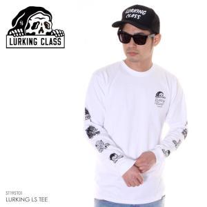 SALE セール LURKING CLASS ラーキングクラス ロンT メンズ LURKING CLASS L/S TEE ST19ST01 2019春夏 ホワイト S/M/L|3direct