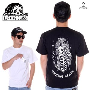 LURKING CLASS ラーキングクラス Tシャツ メンズ SKULL  GIRL POCKET TEE ST19ST05 2019春夏 ブラック/ホワイト S/M/L|3direct