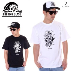 SALE セール LURKING CLASS ラーキングクラス Tシャツ メンズ DIE HIGH TEE ST19ST07 2019春夏 ブラック/ホワイト S/M/L|3direct