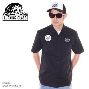 SALE セール LURKING CLASS ラーキングクラス シャツ メンズ EASY WORK SHIRT ST19SU05 2019春夏 ブラック S/M/L|3direct