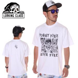 SALE セール LURKING CLASS ラーキングクラス Tシャツ メンズ FIRE TEE 2019春夏|3direct