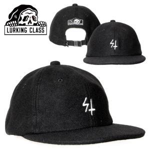 LURKING CLASS ラーキングクラス キャップ メンズ レディース WOOL SNAPBACK BLACK 2020秋冬|3direct