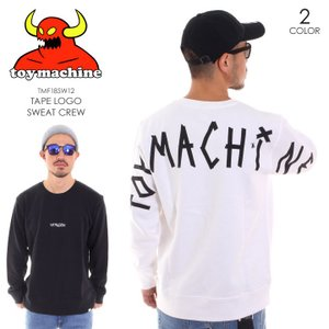 TOY MACHINE トイマシーン スウェット メンズ TAPE LOGO SWEAT CREW 2TMF18SW12|3direct