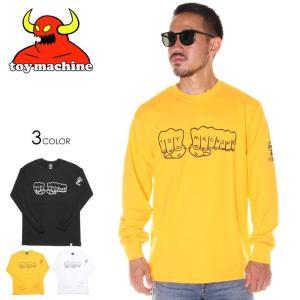 SALE セール TOY MACHINE トイマシーン Tシャツ ロンT メンズ FIST LONG SLEEVE TEE|3direct