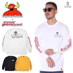 SALE セール TOY MACHINE トイマシーン Tシャツ ロンT メンズ PUNK DRUNKERS x FIST LONG SLEEVE 2019秋冬|3direct
