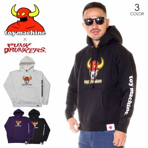 TOY MACHINE トイマシーン パーカー メンズ TOY DRUNKERS SWEAT PARKA 2019秋冬|3direct