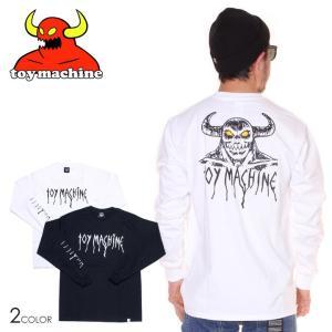 SALE セール TOY MACHINE トイマシーン Tシャツ ロンT メンズ HELL MONSTER LONG TEE|3direct