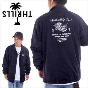 THRILLS ジャケット メンズ KITTY CLUB SPRAY JACKET 2017秋冬 TS1-204E ネイビー M/L/XL|3direct