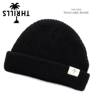 THRILLS スリルズ ビーニー メンズ PALM LABEL BEANIE TW8-1002B|3direct