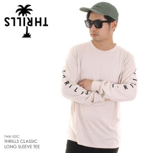 THRILLS スリルズ Tシャツ ロンT メンズ THRILLS CLASSIC LONG SLEEVE TEE VTW8-102C|3direct