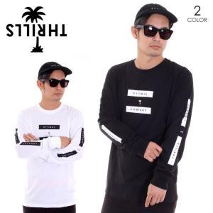 THRILLS スリルズ Tシャツ ロンT メンズ SEGMENT LONG SLEEVE TEE TW8-118|3direct