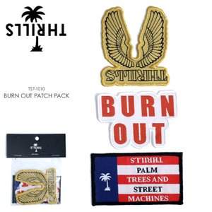 THRILLS ワッペン メンズ BURN OUT PATCH PACK TS7-1010 2018春 アソート ワンサイズ|3direct