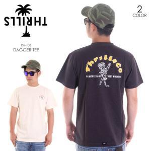 THRILLS Tシャツ メンズ DAGGER TEE TS7-106 2018春 アイボリー/ブラック S/M/L|3direct