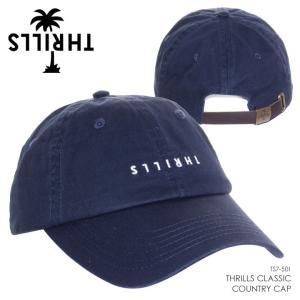 THRILLS キャップ メンズ THRILLS CLASSIC COUNTRY CAP TS7-501G 2018春 グレー/ネイビー/ブラウン フリーサイズ|3direct