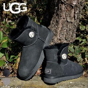 UGG ムートンブーツ ベイリーボタン ブーツ レディース MINI BAILEY BUTTON BLING 新品 1003889|3direct