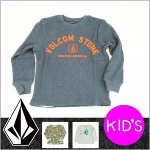 VOLCOM ボルコム ロンT STREET SIDE THERMAL LITTLE YOUTH キッズ リトルユース / Tシャツ 長袖 L/S TEE ジュニア 子供|3direct