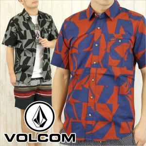 VOLCOM ボルコム シャツ SLICED S/S メンズ / 総柄 柄シャツ SHIRT 半袖|3direct