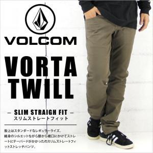 デニムパンツ メンズ VOLCOM VORTA TWILL - A1131505  / MSH / ボルコム ツイルパンツ ストレッチ デニム ジーンズ ジーパン パンツ スケート ストリート サーフ|3direct