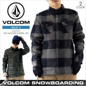 ボルコム スノーウェア メンズ VOLCOM PAT MOORE SHERPA JACKET - G0151707 VOLCOM SNOW スノー スキー ウエア  ジャケット スノーボード チェック 大きいサイズ|3direct