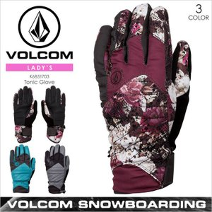 スノー グローブ レディース VOLCOM TONIC GLOVE - K6851703 VOLCOM ボルコム スノーグローブ グローブ スキー 5本指 手袋 フラワー 柄 冬|3direct