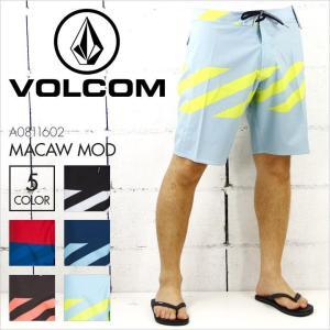VOLCOM ボルコム サーフパンツ メンズ MACAW MOD [A0811602] ボードショーツ ストレッチ ボーダー サーフィン サーフ 水着 海パン 大きいサイズ 16 2016|3direct