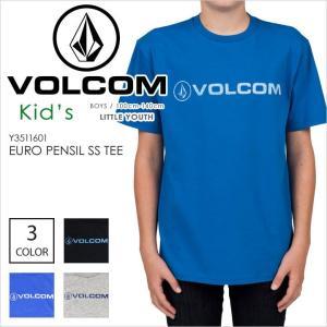 VOLCOM ボルコム Tシャツ EURO PENSIL S/S TEE LITTLE YOUTH シンプル ロゴ ストリート ブラック ブルー グレー キッズ ジュニア ボーイズ 男の子 女の子 半袖 1|3direct