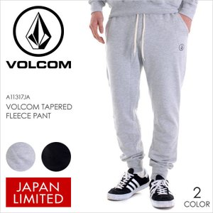 VOLCOM パンツ スウェット VOLCOM TAPERED FLEECE PANT 2017秋冬 A11317JA BLK/HGR S/M/L|3direct