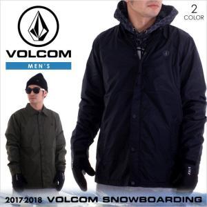 17-18 VOLCOM スノーウェア メンズ SKINDAWG JACKET 2017-2018 秋冬 G0151805 ブラック/グリーン XS/S/M/L/XL|3direct