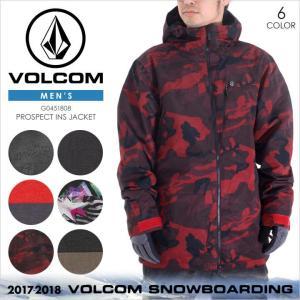 17-18 VOLCOM スノーウェア メンズ PROSPECT INS JACKET 17-18 秋冬 G0451808 ブラック/レッド/マルチ/カモフラージュ/ブラウン XS/S/M/L/XL|3direct