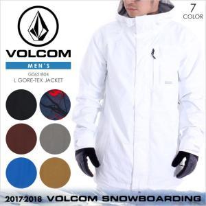 17-18 VOLCOM スノーウェア メンズ L GORE-TEX JACKET 17-18 秋冬 G0651804 ブラック/レッド/マルーン/グレー/ブルー/ベージュ/ホワイト XS/S/M/L/XL|3direct