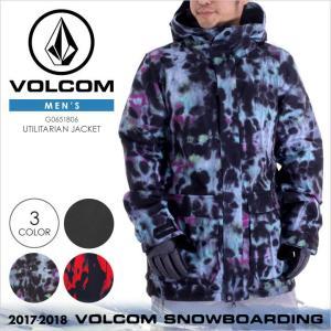 17-18 VOLCOM スノーウェア メンズ UTILITARIAN JACKET 17-18 秋冬 G0651806 ブラック/マルチ/レッド XS/S/M/L/XL|3direct