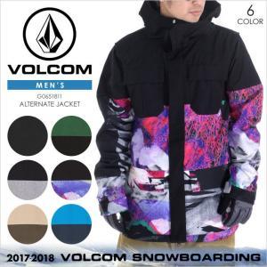 17-18 VOLCOM スノーウェア メンズ ALTERNATE JACKET 17-18 秋冬 G0651811 ブラック/グリーン/グレー/マルチ/ブラウン/ブルー XS/S/M/L/XL|3direct