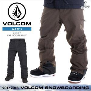17-18 VOLCOM スノーウェア メンズ PAT MOORE PANT 17-18 秋冬 G1351811 ブラック/ブラウン|3direct