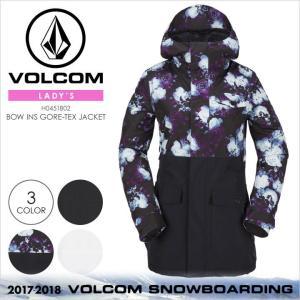17-18 VOLCOM スノーウェア レディース BOW INS GORE-TEX JACKET 2017-2018 秋冬 H0451802 ブラック/ボタニカル/ホワイト XS/S/M/L/XL|3direct