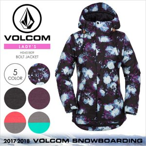 17-18 VOLCOM スノーウェア レディース BOLT JACKET 2017-2018 秋冬 H0451809 ブラック/マルチ/パープル/ピンク/ブルー XS/S/M/L/XL|3direct