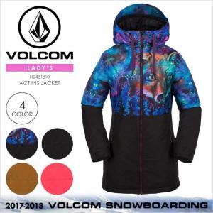 17-18 VOLCOM スノーウェア レディース ACT INS JACKET 2017-2018 秋冬 H0451810 マルチ/ブラック/ブラウン/ピンク XS/S/M/L/XL|3direct