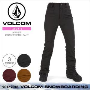 17-18 VOLCOM スノーウェア レディース COAST STRETCH PANT 2017-2018 秋冬 H1351807 ブラック/レッド/ブラウン|3direct