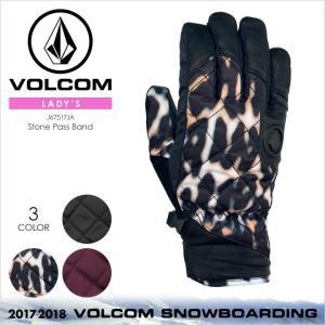 VOLCOM スノー グローブ レディース TONIC GLOVE 2017-2018 K6851802 ブラック/ホワイト/パープル S/M|3direct