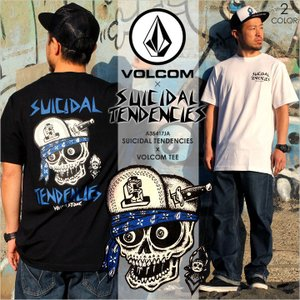 VOLCOM Tシャツ SUICIDAL TENDENCIES x VOLCOM TEE 2017秋冬 A35417JA ブラック/ホワイト S/M/L|3direct