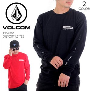 VOLCOM ロンT DISTORT L/S TEE 2017秋冬 A3641700 BLK/TRR S/M/L|3direct