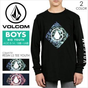 VOLCOM ロンT キッズ ボーイズ RESIN L/S TEE YOUTH C3641731 2017秋冬 ブラック/ネイビー S/M/L 140/150/160|3direct