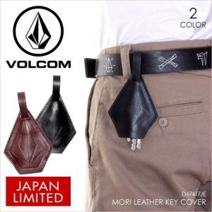VOLCOM キーケース メンズ MORI LEATHER KEY COVER 2017秋冬 D67417JE ブラック/ブラウン ワンサイズ|3direct