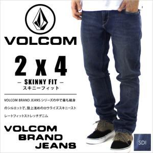 デニムパンツ メンズ VOLCOM 2x4 DENIM - A1931510 -SDI- ボルコム デニム ストレッチ ジーンズ ジーパン パンツ スケート ストリート サーフ スキニー スリム 1|3direct